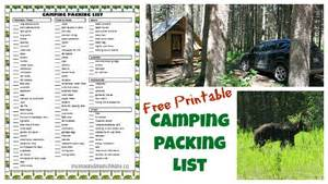 Free Printable Camping Packing List