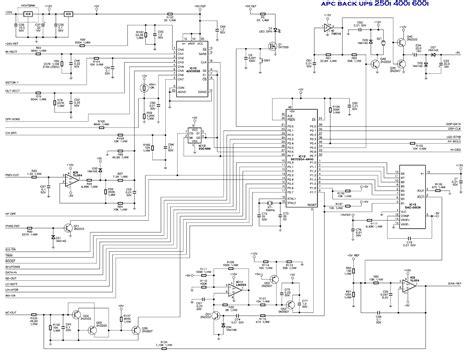 apc 600va ups circuit diagram circuit and schematics diagram