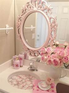 Shabby Chic Stühle : pink roses shabby cottage chic room decor romantic home bathroom would be cute for a guest ~ Orissabook.com Haus und Dekorationen