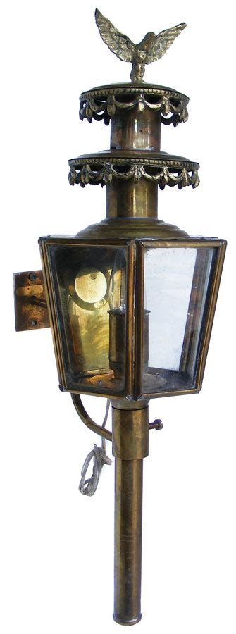 vintage electric brass eagle carriage lantern wall mount