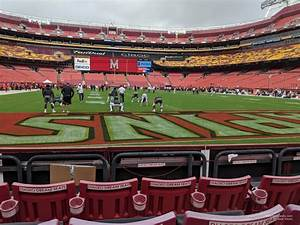 Redskins Field Seating Chart Section 33 At Fedexfield Rateyourseats Com