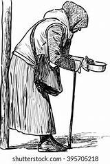 Poverty Drawing Beggar Shutterstock sketch template