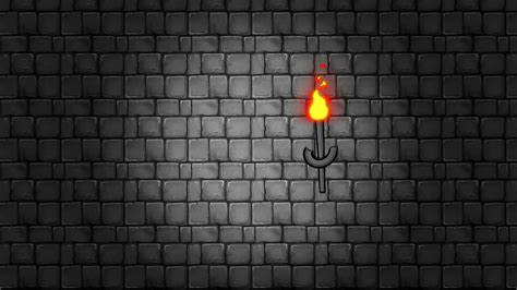 Dungeon Background Walking Through A Dungeon With Torches Hanging On A Brick