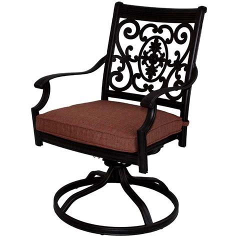 patio furniture rocker swivel cast aluminum chairs set 2