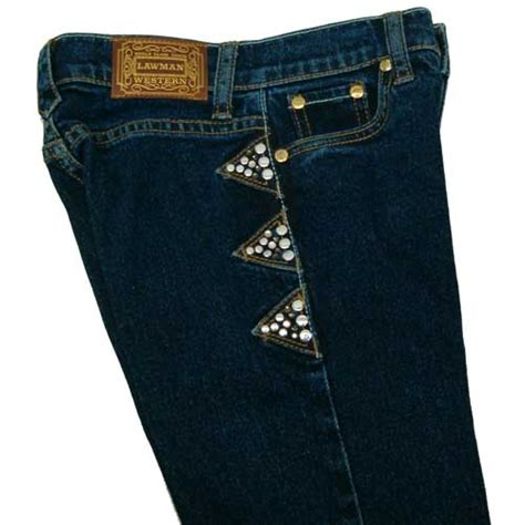 lawman crystal tribute jeans  girls