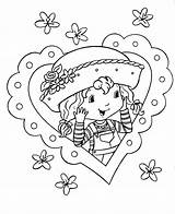 Strawberry Coloring Shortcake Heart sketch template