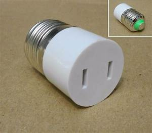 Light Bulb Adapter With Switch E26 Screw Light Bulb Base 120v 15a Female Plug 2pin