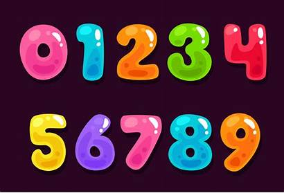 Jelly Numbers Alphabet Vector Colorful 3d Vecteezy
