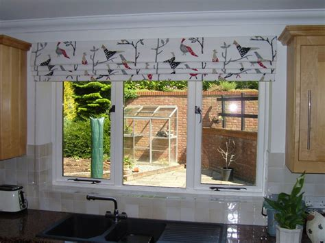 Roman Blind Outside The Recess In A Harlequin Fabric