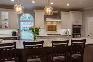 Galley, Style, Kitchen, With, Large, Island