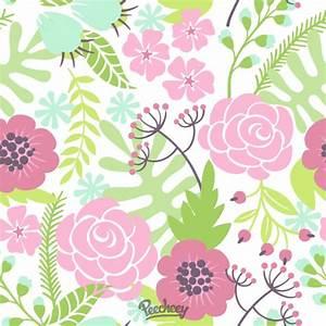 Seamless flower background Peecheey