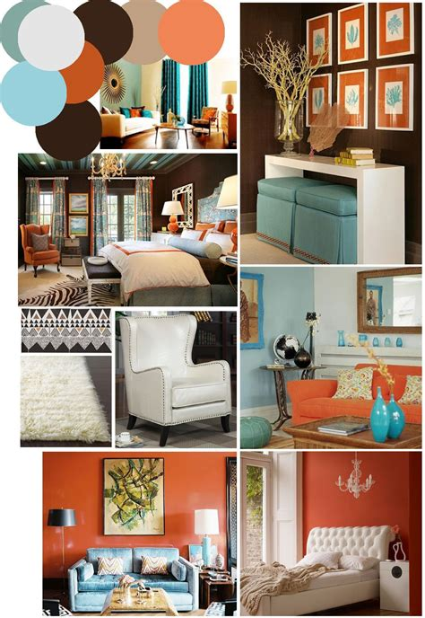 Browse living room decorating ideas and furniture layouts. colors to go with burnt orange curtains | Mr. Kate | color ...