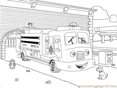 fuller fire truck coloring page  vehicle transport