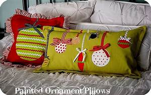 christmas project make painted ornament pillows my blog With christmas throws and pillows