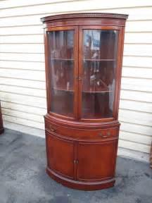 ebay corner china cabinet 53191 antique mahogany bow glass corner china cabinet