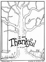 Coloring Thankful Tree Ministry Children Thanksgiving Leave Cancel Previous sketch template