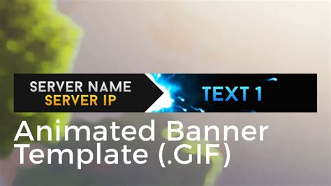 Adobe After Effects Banner Templates by Minecraft Animated Server Banner Template Quot Super Dazzle