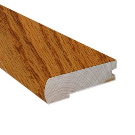 stair nose oak butterscotch 2 3 4 in wide x 78 in length flush mount stair nose molding use with 3 8 in