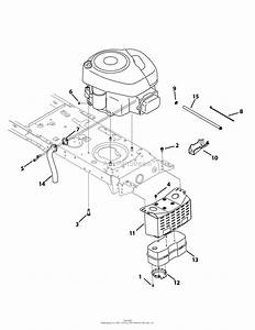 Mtd 13am772s055  2010  Parts Diagram For Engine