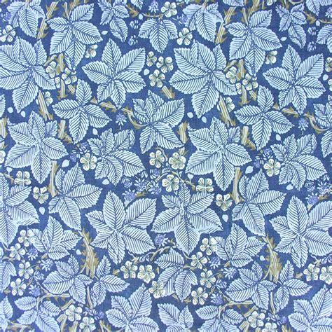 William Morris Linen Cloth Print Bramble Blue
