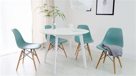 white dining table and eames dining chair set uk