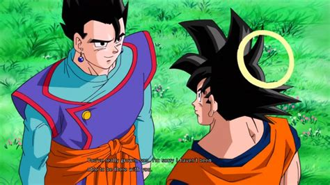 beats anime ultime z gohan says goodbye to goku ultimate