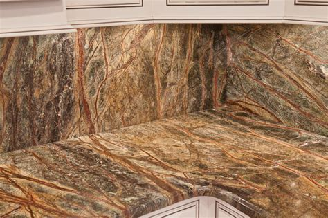rainforest green granite marble modern kitchen