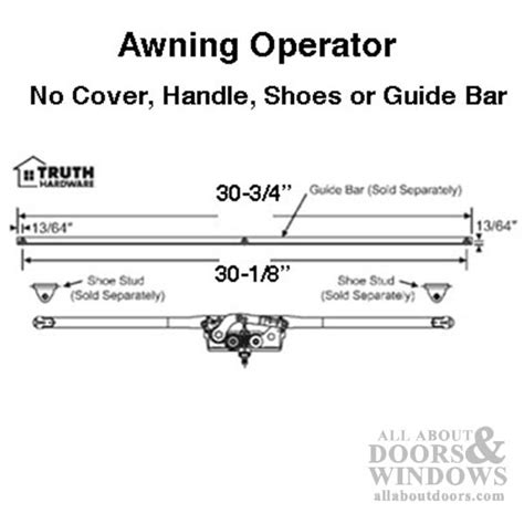 awning roto crank operator dual arm entrygard window
