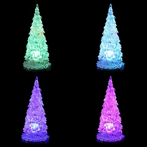 colorful led mini crystal light christmas tree christmas