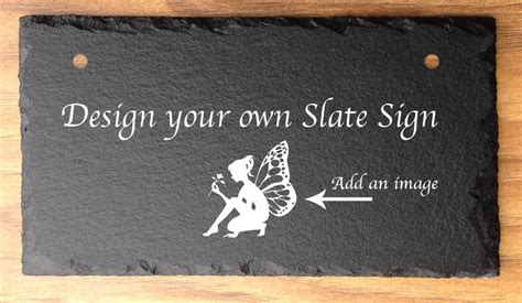 personalised garden  home signs  slate design