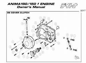 Daytona Anima 150 And 190 4v O E M  Clutch Cover  19