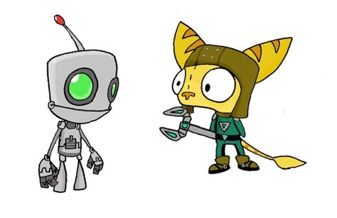 Ratchet And Clank Wallpaper Gir As Ratchet And Clank By Electric Mongoose On Deviantart