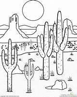 Desert Coloring Mojave 440px 28kb sketch template