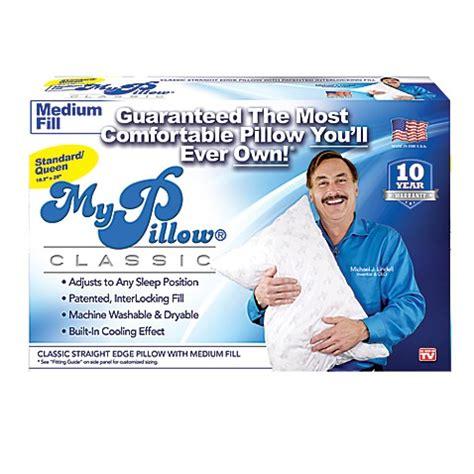 my pillow fitting guide mypillow 174 medium fill pillow bed bath beyond