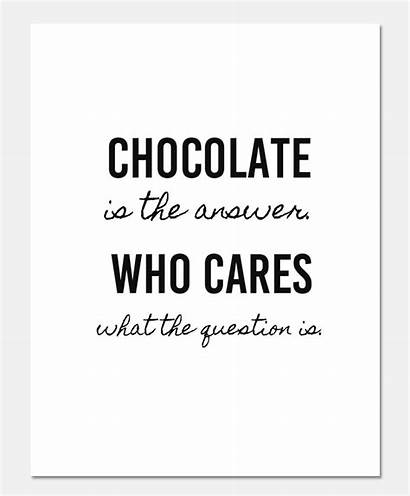 Chocolate Printable Lover Answer Quotes Cares Candy