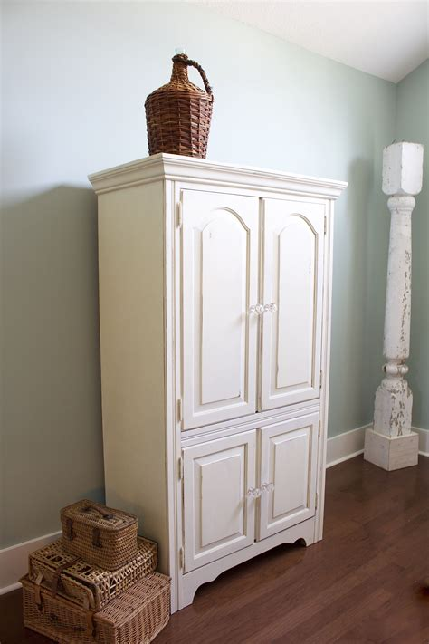 Paint Armoire Chalk Painted Armoire Makeover 2 Bees In A Pod