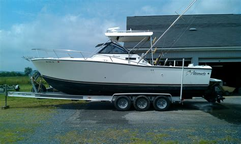 Trailerable Express Boats by 1993 27 Albemarle W Trailer The Hull Boating And