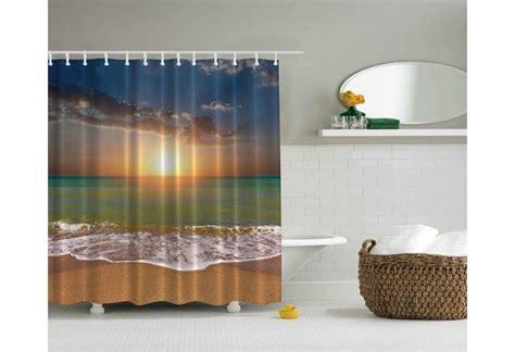 theme shower curtain sunset on the nautical themed curtain