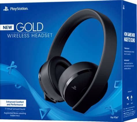 playstation gold wireless stereo headset  version