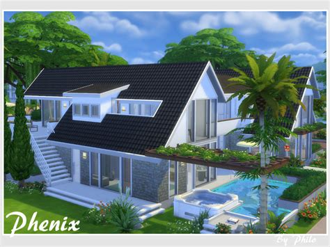 of sims 4 house building small modernity philo s phenix no cc Best
