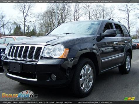 jeep dark gray 2008 jeep grand cherokee overland 4x4 black dark slate