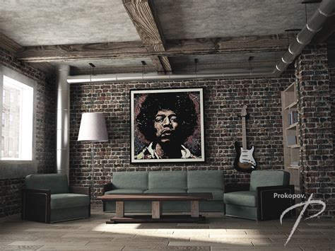 Wohnzimmer Loft Style by Livingroom In A Loft Style 3d Visualization And Design