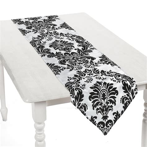 black and white table runners active play