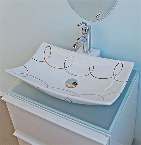 hand painted bathroom sinks bathrooms with gold platinum hand painted sinks