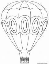 Balloon Air Coloring Printable Balloons Template Craft Ballon Crafts Visit Preschool sketch template