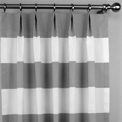 gray and white striped curtains gray white contemporary cabana wide horizontal by