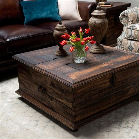 Rustic Coffee Tabledouble Trunk  Weir's Furniture