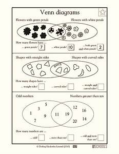 Venn Diagrams Worksheet For 1st Grade