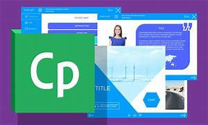 new blue colored adobe captivate course starter template With adobe captivate free templates