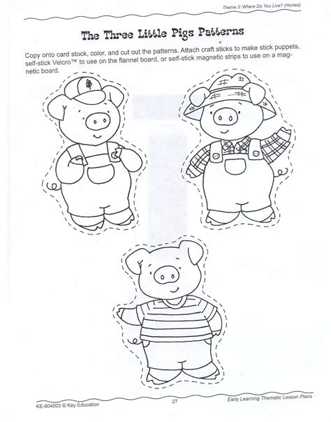 Printable Three Little Pigs House Templates Little pigs